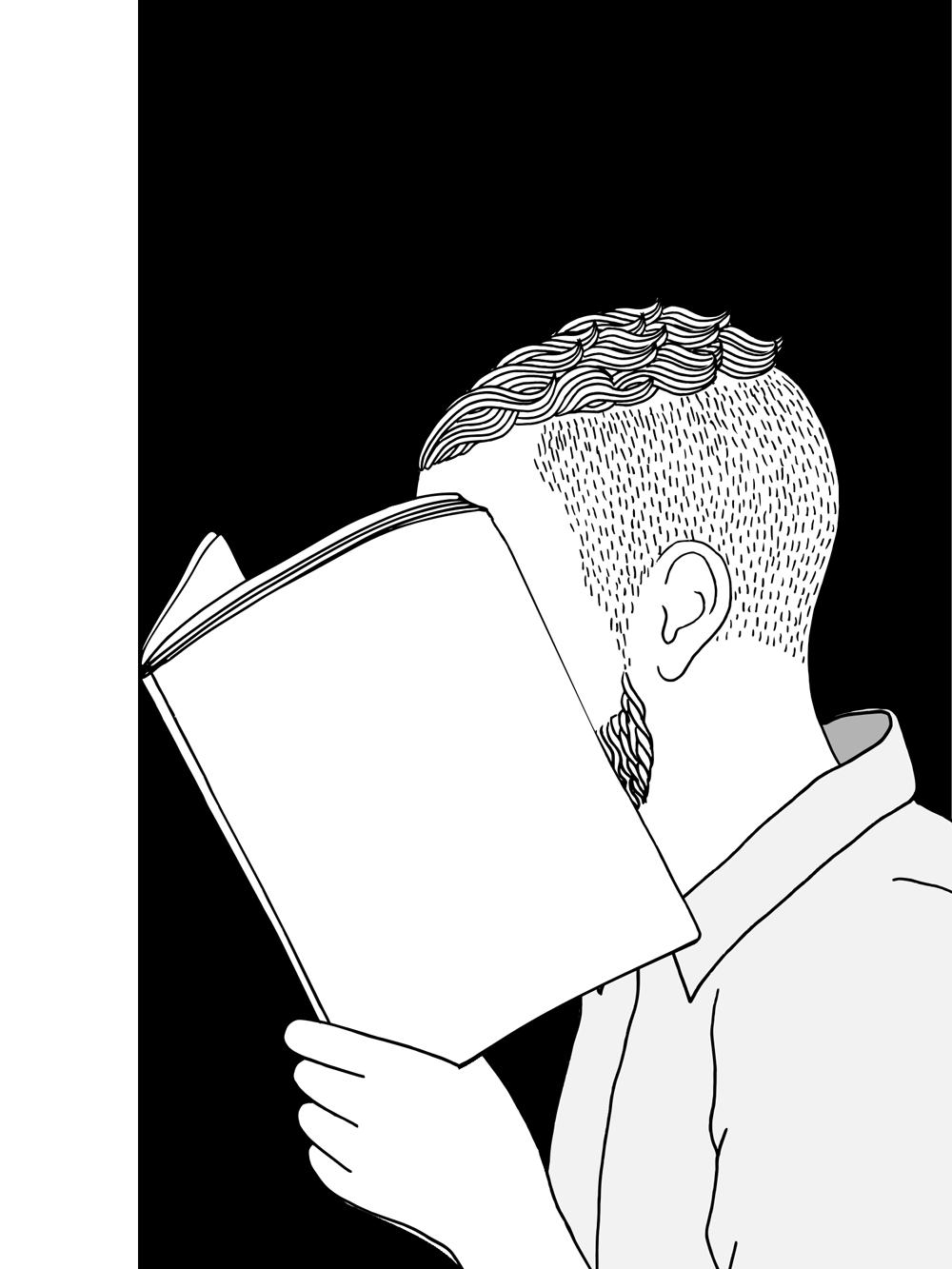 Mann liest…